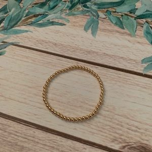 14 K gold filled bracelet 4mm beads
